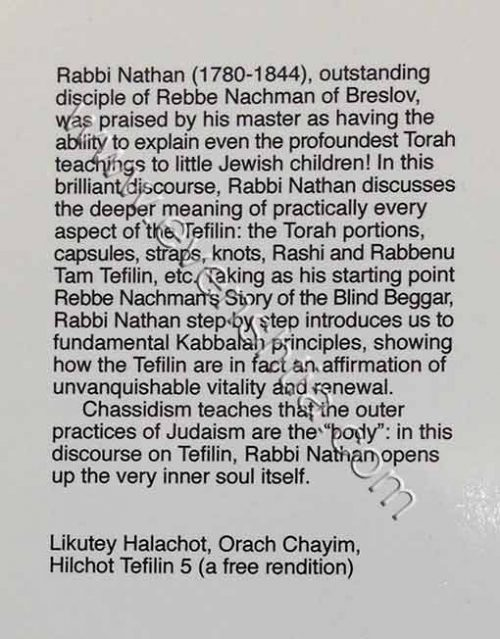 Tefilin Breslov English books