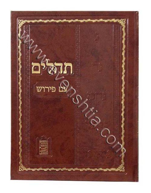תהילים גדול עם פירוש ושמות הצדיקים בפרי רבי נחמן מברסלב